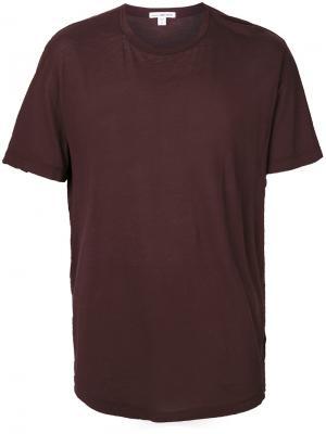 Базовая футболка James Perse. Цвет: коричневый