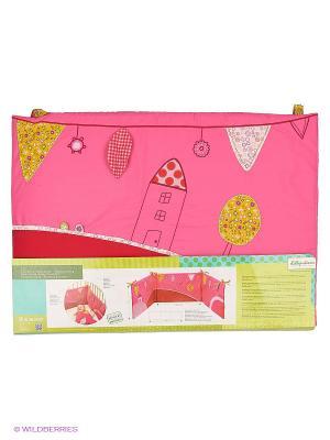 Божья коровка Лиза Развивающий бампер на кроватку Lilliputiens. Цвет: розовый
