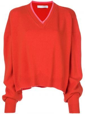 Мешковатый свитер с V-образным вырезом Giada Benincasa. Цвет: жёлтый и оранжевый