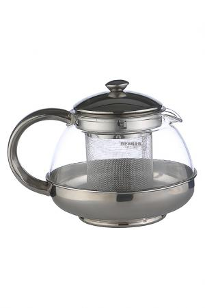 Чайник заварочный 0,5 л Bekker. Цвет: серебро