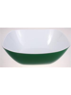 Салатник большой, 1350 мл, зеленый Радужки. Цвет: зеленый