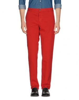 Повседневные брюки BLAUER. Цвет: красный