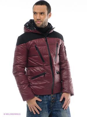 Куртка ALF SPORT. Цвет: темно-бордовый