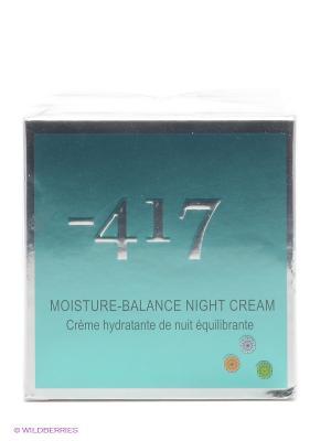 Крем ночной увлажняющий для лиц Green Diamond Minus 417. Цвет: морская волна, прозрачный