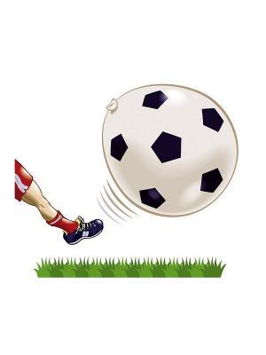 8 шариков Футбольный мячик Everts. Цвет: белый
