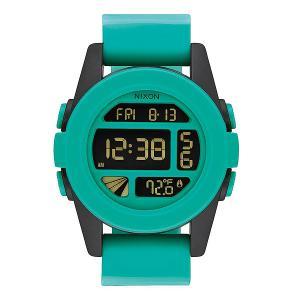 Электронные часы  Unit Teal Fade Nixon. Цвет: голубой,черный