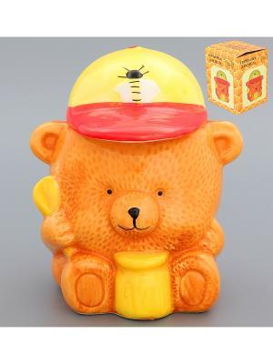 Горшочек для меда Медвежонок Elan Gallery. Цвет: желтый, светло-коричневый