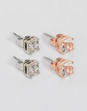 Simon Carter Набор из 2 пар сережек с кристаллами Swarovski (золотисто-розовые / пр. Цвет: мульти