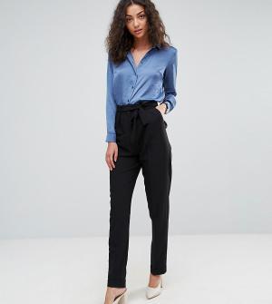 ASOS Tall Тканые брюки галифе с поясом оби. Цвет: черный