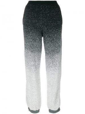 Speckled track pants Stefano Mortari. Цвет: чёрный