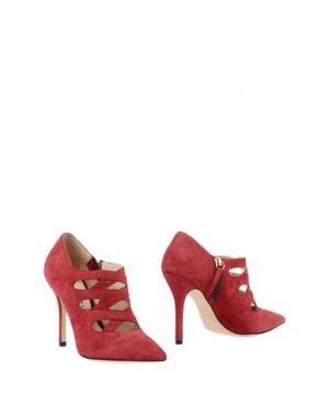 Ботинки FEDERICA STELLA. Цвет: красный