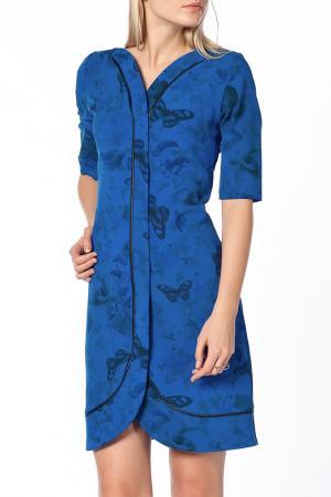 Платье Duse. Цвет: синий