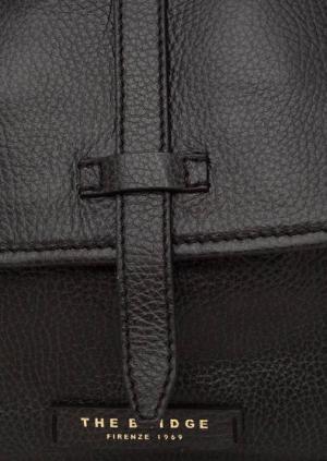 Черный рюкзак из натуральной кожи The Bridge. Цвет: черный