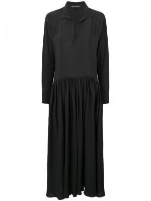Расклешенное платье макси Ter Et Bantine. Цвет: чёрный