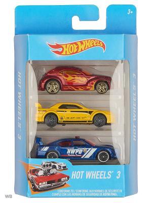 Набор машин Hot Wheels. Цвет: темно-синий, бордовый, желтый