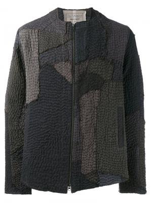 Фактурная куртка-бомбер By Walid. Цвет: серый