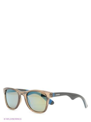 Солнцезащитные очки CARRERA. Цвет: синий, хаки
