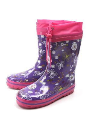 Резиновые сапоги TOM&MIKI. Цвет: фиолетовый