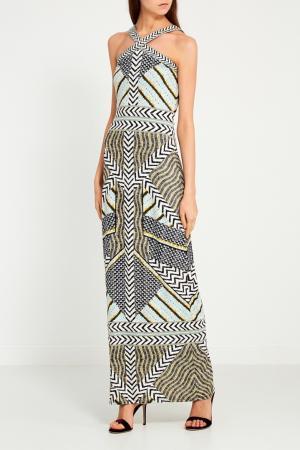 Платье-макси с геометрическими узорами Hale Bob. Цвет: multicolor