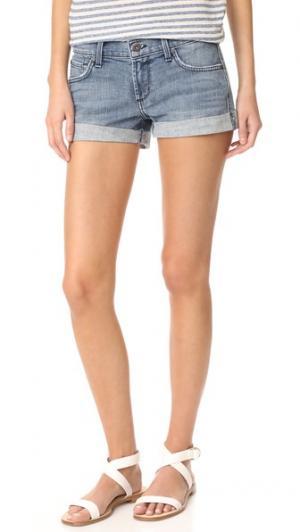 Свободные шорты-бойфренды с подвернутым низом James Jeans. Цвет: голубой