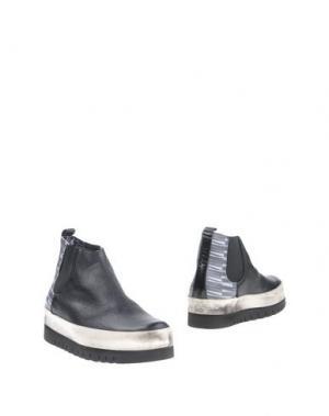Полусапоги и высокие ботинки YAB. Цвет: черный