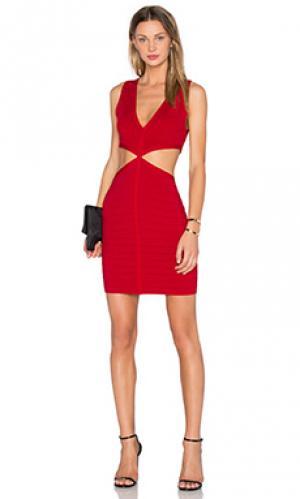 Обтягивающее платье socialite NBD. Цвет: красный