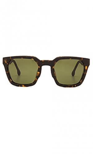 Солнцезащитные очки levit Steven Alan. Цвет: коричневый