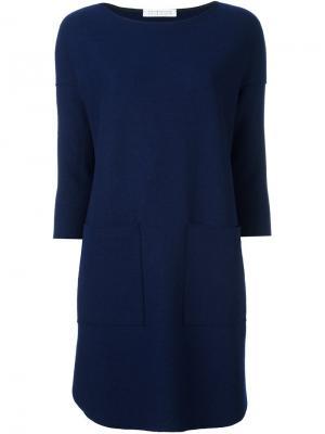 Платье-свитер Harris Wharf London. Цвет: синий