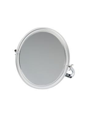 Зеркало  настольное в прозрачной оправе на металлической подставке Dewal. Цвет: прозрачный