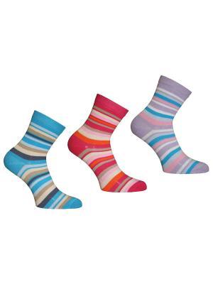 Носки 3 пары Master Socks. Цвет: бирюзовый, сиреневый, малиновый