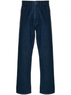Широкие джинсы Raf Simons. Цвет: синий