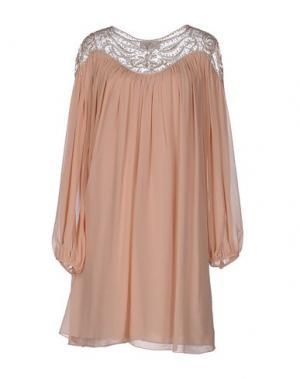 Короткое платье GAI MATTIOLO. Цвет: телесный