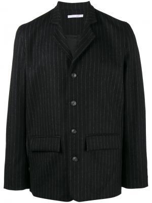 Пиджак в тонкую полоску Lot78. Цвет: чёрный