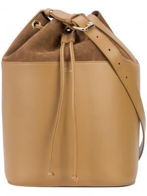 Большая сумка-мешок A.P.C.. Цвет: коричневый