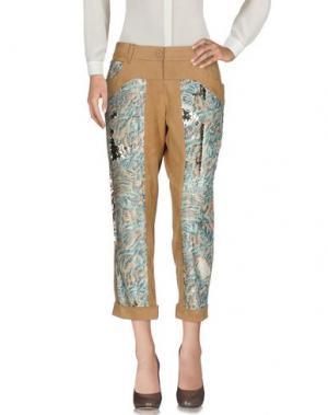 Повседневные брюки MARIAGRAZIA PANIZZI. Цвет: верблюжий