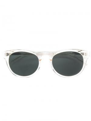 Солнцезащитные очки в круглой оправе Han Kjøbenhavn. Цвет: белый