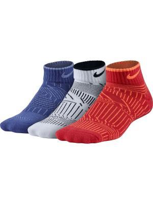 Носки YTH NK PERF CUSH LOW 3PR-GFX Nike. Цвет: синий, красный, белый