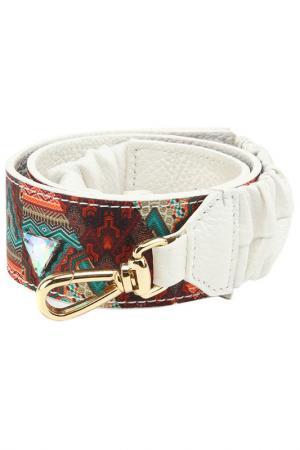 Ремень для сумки Gilda Tonelli. Цвет: коричневый, зеленый