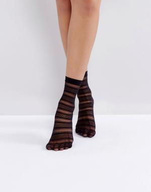 Jonathan Aston Черные носки Halo. Цвет: черный