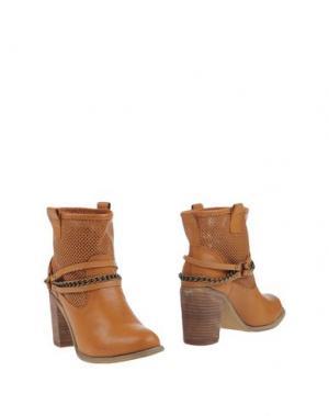 Полусапоги и высокие ботинки MISS ROBERTA. Цвет: верблюжий
