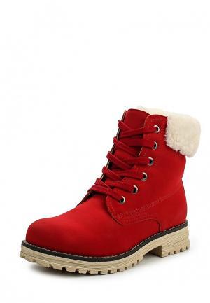 Ботинки Keddo. Цвет: красный