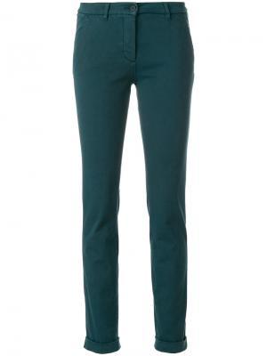Зауженные брюки-чинос Via Masini 80. Цвет: синий