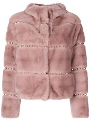 Rockstud jacket Valentino. Цвет: розовый и фиолетовый