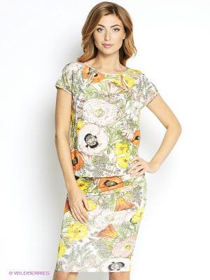 Платье Elena Shipilova. Цвет: белый, желтый