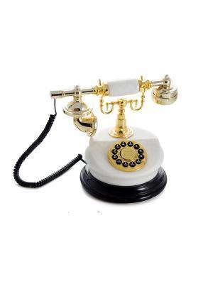 Телефон ретро Русские подарки. Цвет: белый, золотистый