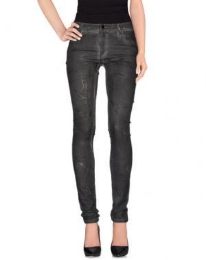 Джинсовые брюки AARCC. Цвет: стальной серый