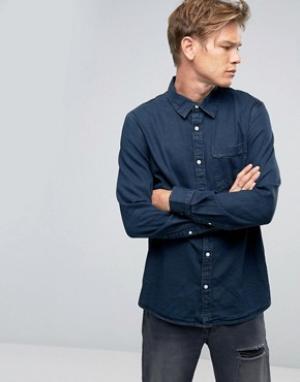 Weekday Синяя джинсовая рубашка Class OD-11. Цвет: синий