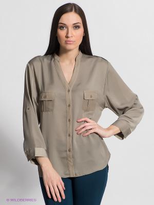 Блузка FRACOMINA. Цвет: хаки