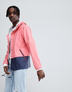 Herschel Supply Co Спортивная куртка с капюшоном. Цвет: розовый