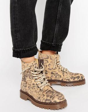 Park Lane Ботинки на шнуровке и массивной подошве. Цвет: мульти
